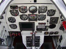 "Cockpit of ""Glamorous Gal"""
